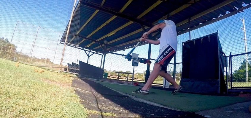 My batting cage experience..Batter up