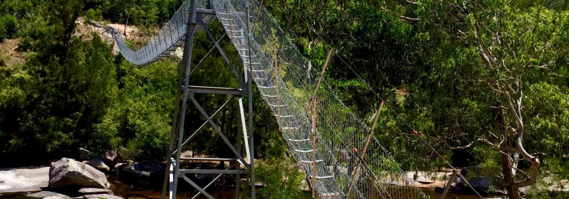 Bowtells Swing Bridge in the Megalong Valley Blue Mountains NSW January 2017 with Lee Burrows from This Life List