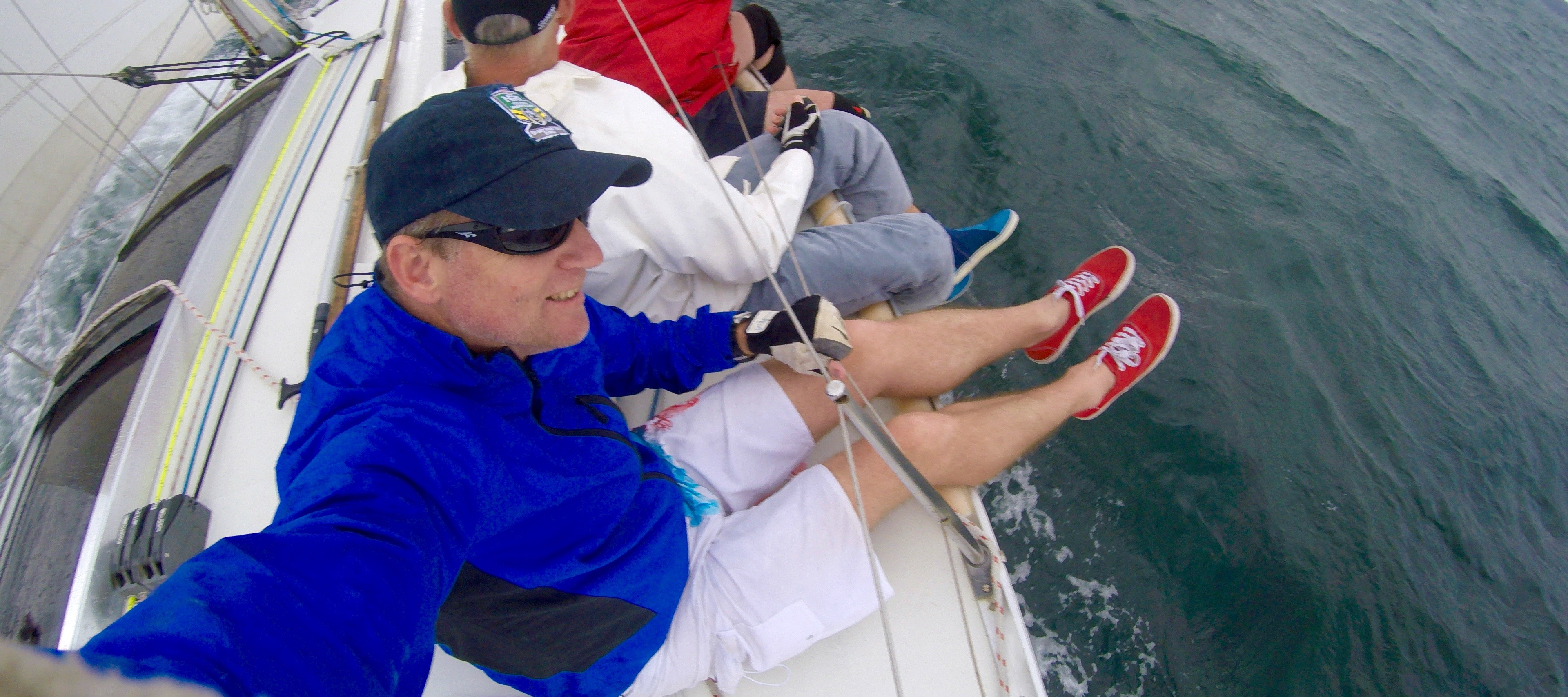 Sailing in Pittwater NSW on Kama 3