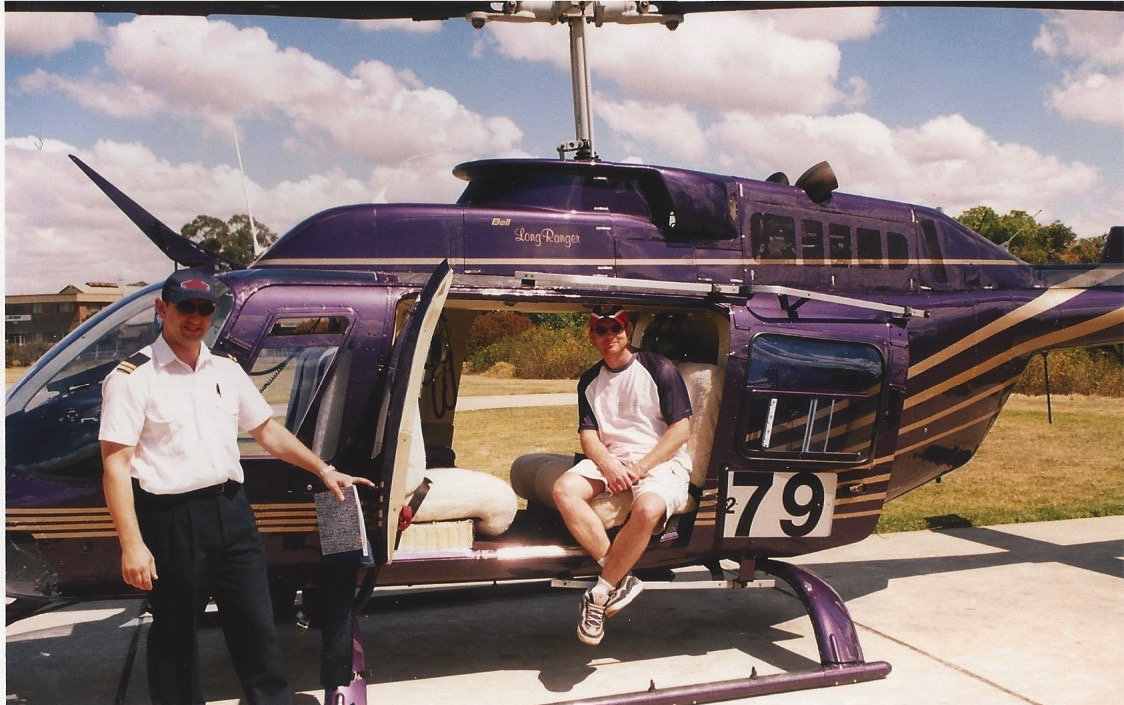 Lee Burrows from This Life List and the Helicopter Captain