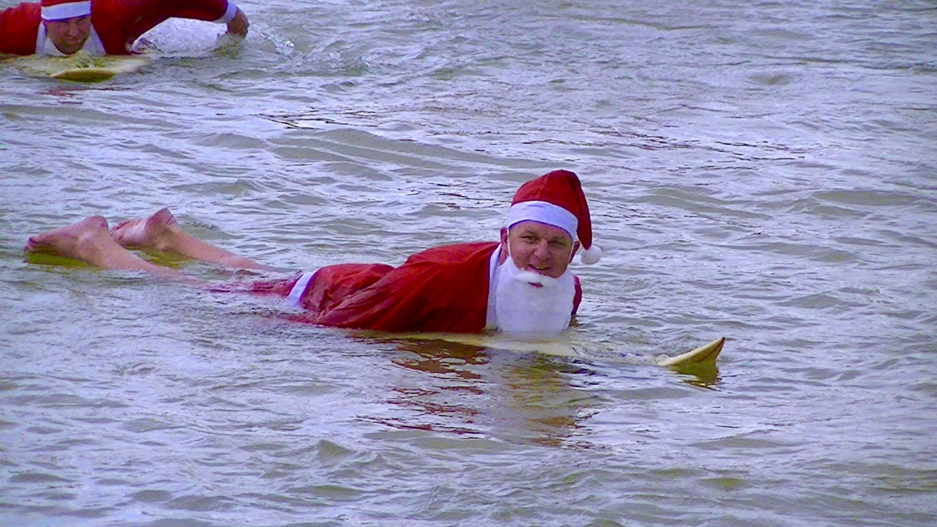 Lee at the Cresent Head Santa Surf 2014