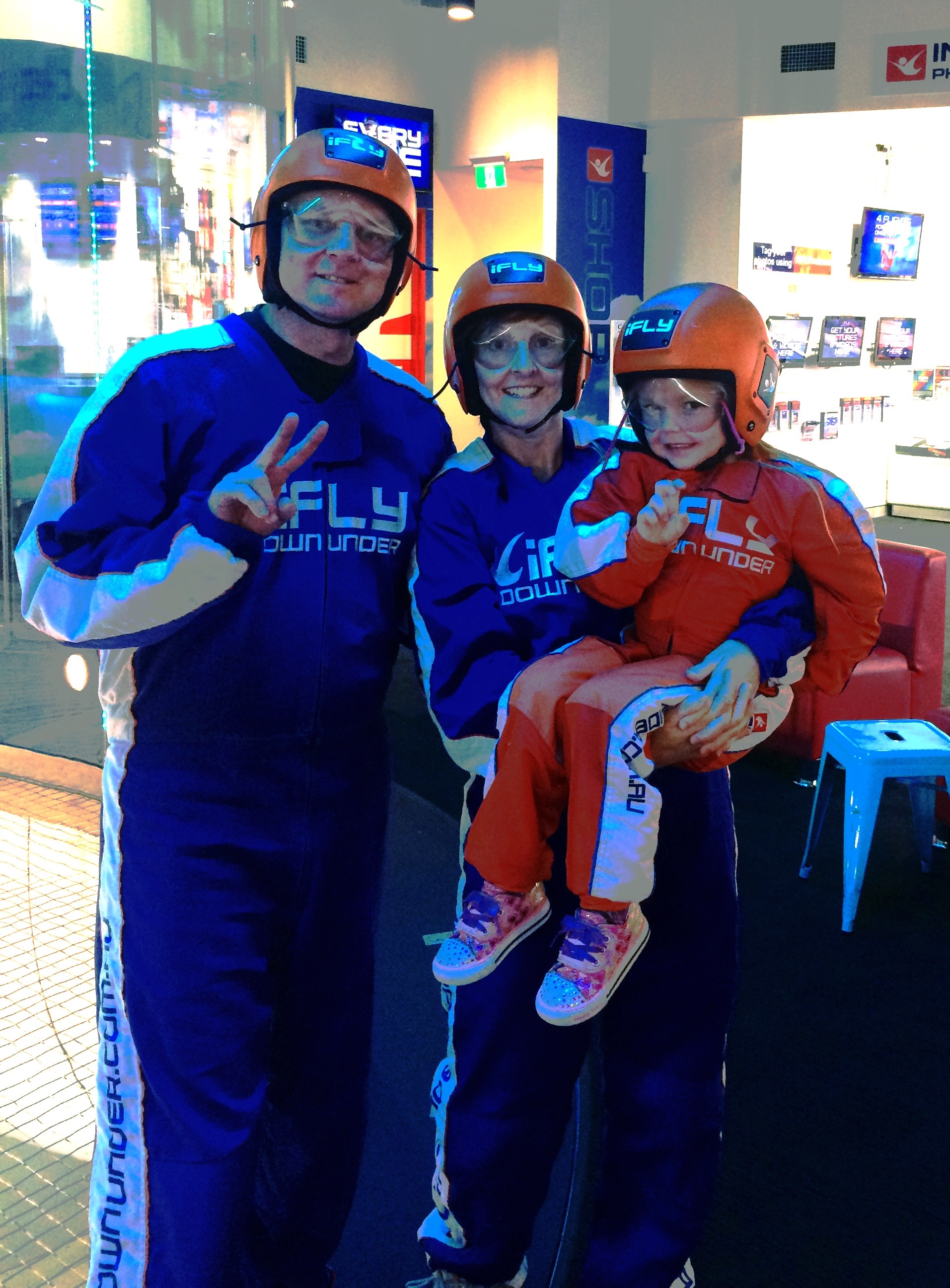 The This Life List team ready to go indoor skydiving