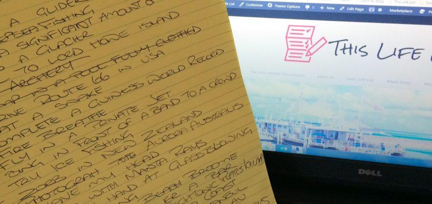 Why write a bucket list?