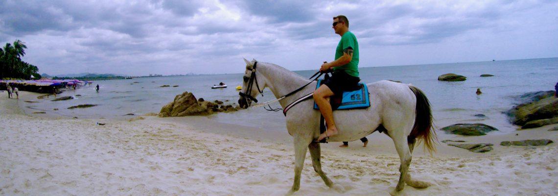 Horse ride on the beach at Hua Hin