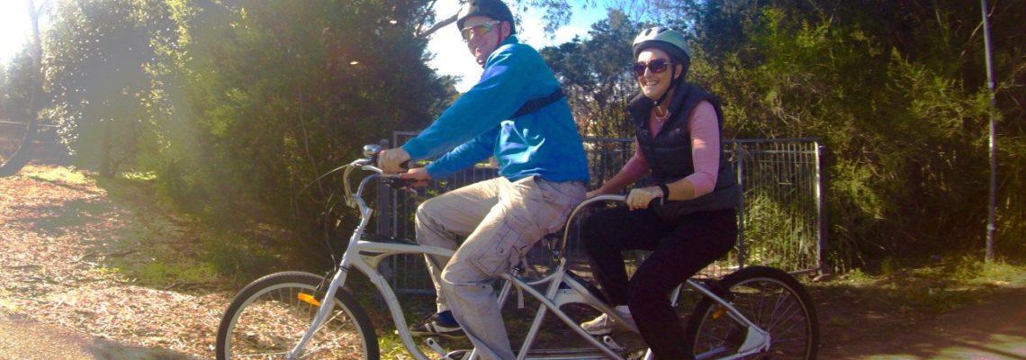 Tandem bike fun